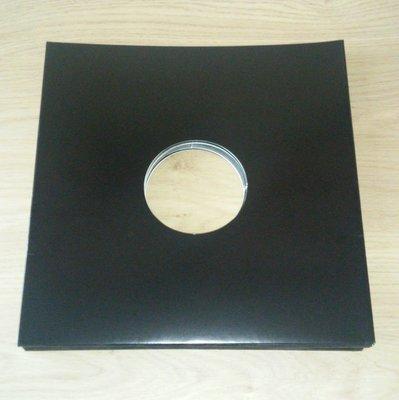 LP Hoezen Karton, Zwart met middengat - per 10 stuks