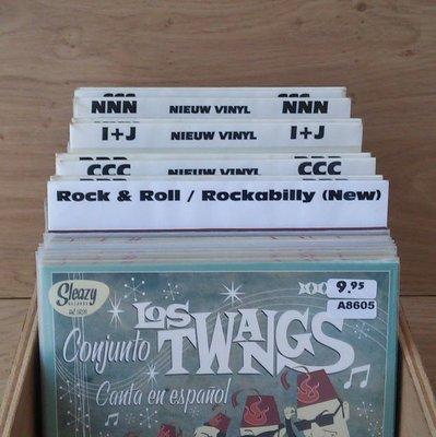 Vinylsingle Registers Wit - per 25 stuks