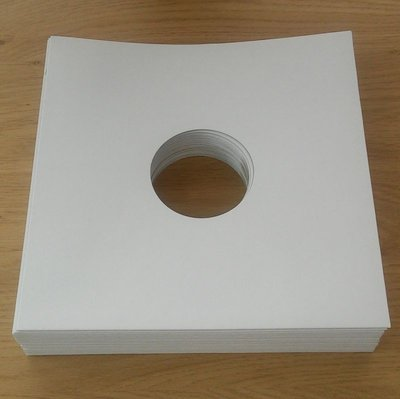 """Wit Kartonnen hoezen voor 78toeren/10"""" platen - per 25 stuks"""