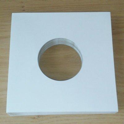 Wit Kartonnen hoezen voor vinylsingles - per 20 stuks