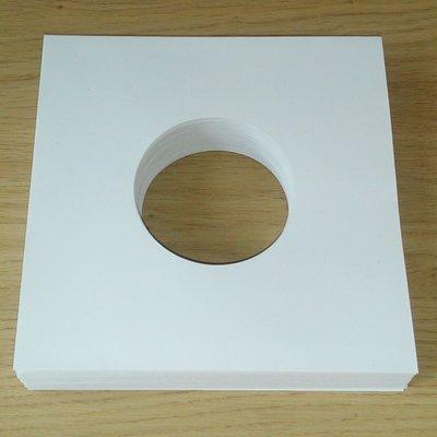 Wit Papieren Hoezen voor vinylsingles (High Quality) - per 100 stuks