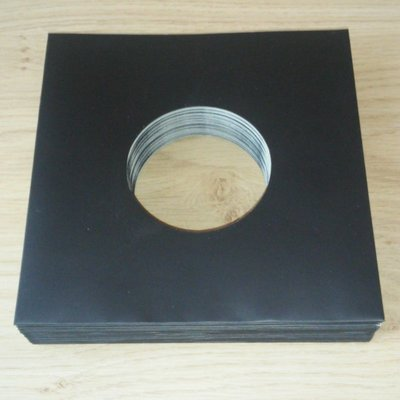 Zwart Kartonnen hoezen voor vinylsingles - per 20 stuks
