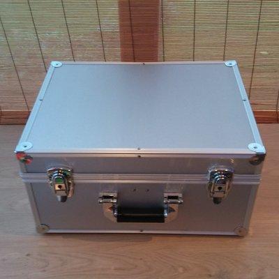 Vinylsingle Koffer Zilver (2 vaks) Nieuw Model - per stuk