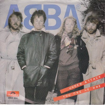 Abba - Under attack + You owe me one (Vinylsingle)
