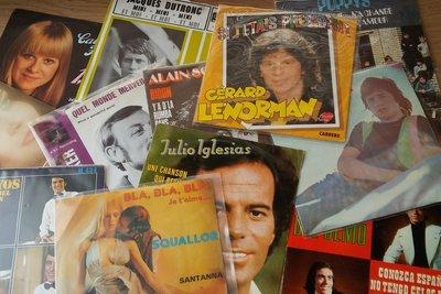 Vinylsingles Pretpakket - 125 stuks Frans/Spaans/Italiaans
