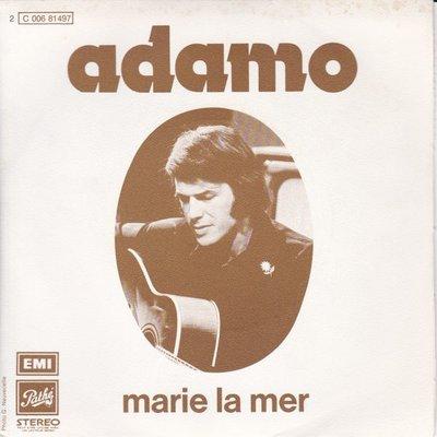 Adamo - Marie la mer + Que tu es noire (Vinylsingle)
