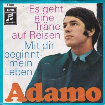 Adamo - Es geht eine trane auf reisen + Mit dir beginnt mein leben (Vinylsingle)