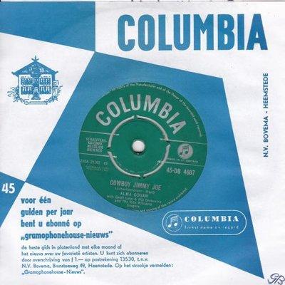 Alma Cogan - Cowboy Jimmy Joe + Don't read the letter (Vinylsingle)