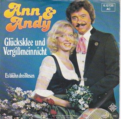 Ann & Andy - Glucksklee Und Vergissmeinnicht + Es Bluhn Drei Rosen (Vinylsingle)