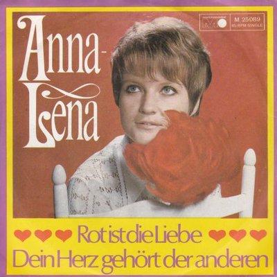 """Anna Lena - Rot Ist Die Liebe + Dein Herz Geh""""rt Der Andern (Vinylsingle)"""