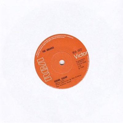 Archies - Sugar sugar + Melody hill (Vinylsingle)