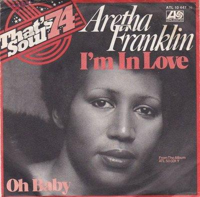Aretha Franklin - I'm in love + Oh baby (Vinylsingle)