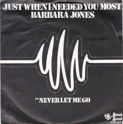 barbara Jones - Just When I Needed You Most + Never Let Me Go (Vinylsingle)