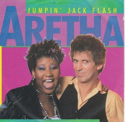 Aretha Franklin & Keith Richards - Jumpin' Jack Flash + Integrity (Vinylsingle)