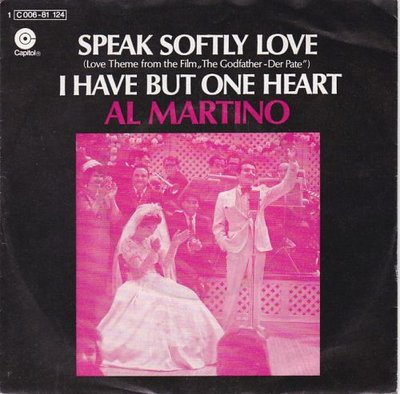 Al Martino - Speak softly love + I have but one heart (Vinylsingle)