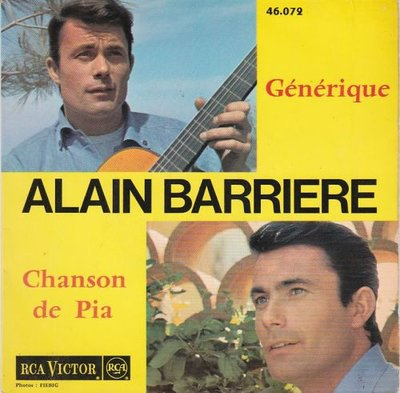 Alain Barriere - Generique + Chanson De Pia (Vinylsingle)