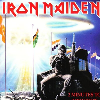 Iron Maiden - 2 Minutes to midnight + Rainbow's gold (Vinylsingle)