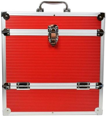 LP Flightcase Rood voor 40 platen - per stuk