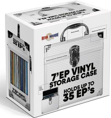 Vinylsingle Koffertje Zilver - per stuk