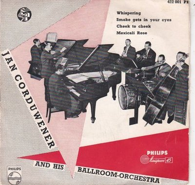 Jan Corduwener And His Ballroom Orchestra  - Whispering (EP) (Vinylsingle)