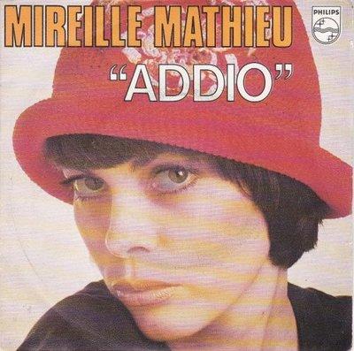 Mireille Mathieu - Addio + Pour Une Marseillaise (Vinylsingle)