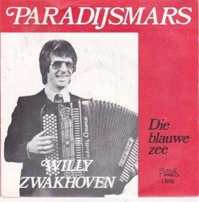 Willy Zwakhoven - Paradijsmars + Die blauwe zee (Vinylsingle)