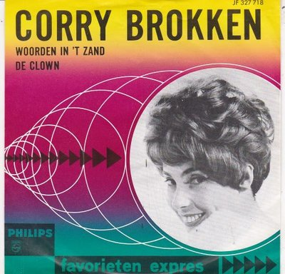 Corry Brokken - Woorden in 't zand + De Clown (Vinylsingle)