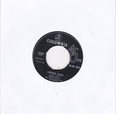Frank Ifield - Lovesick blues + She taught me how to yodel (Vinylsingle)