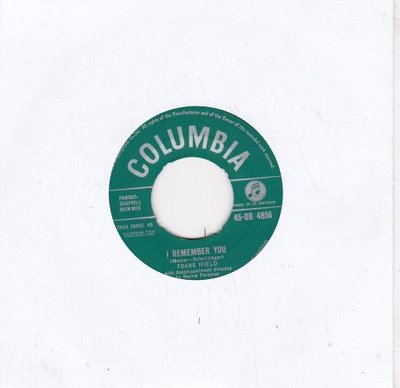 Frank Ifield - I remember you +  I listen to your heart (Vinylsingle)