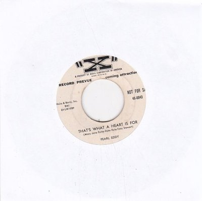 Pearl Eddy - That's What A Heart Is For + Devil Lips (Vinylsingle)