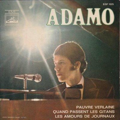 Adamo - Pauvre verlaine + Quand passent les gitans +1 (Vinylsingle)