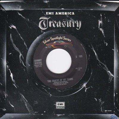 Johnny Rivers - The tracks of my tears + Summer rain (Vinylsingle)