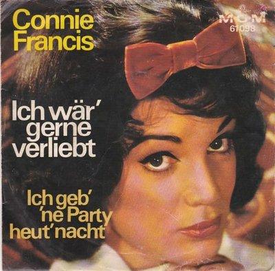 """Conny Francis - Ich W""""r' Gerne Verliebt + Ich Geb' 'Ne Party Heut' Nacht (Vinylsingle)"""