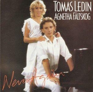 Agnetha Faltskog & Tomas Ledin - Never again + Just for the fun (Vinylsingle)