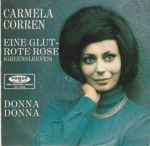 Carmela Corren - Eine Glutrote Rose + Donna Donna (Vinylsingle)