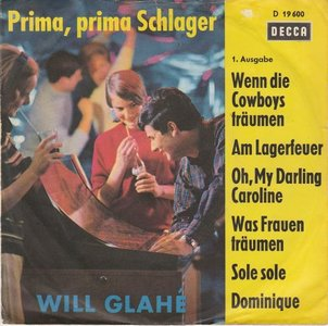 Will Glahe - Prima, Prtima Schlager (Vinylsingle)
