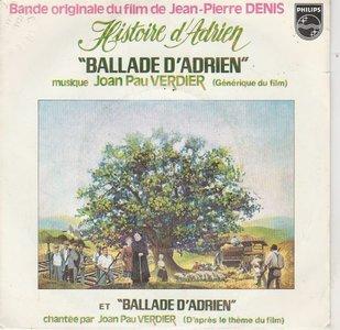 Joan Pau Verdier - Ballade D'Adrien + Ballade D'Adrien (Vinylsingle)