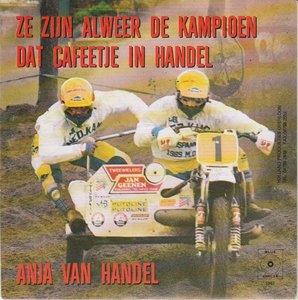 Anja van handel - Ze zijn alweer de kampioen + Dit cafeetje in handel (Vinylsingle)
