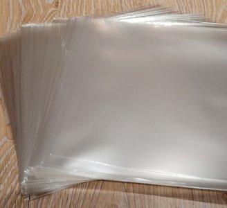"""Zacht Plastic Beschermhoezen voor vinylsingles (7"""", helder, dun) - per 100 stuks"""