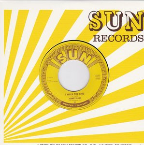 Johnny Cash - I walk the line + Get rhytm (Vinylsingle)