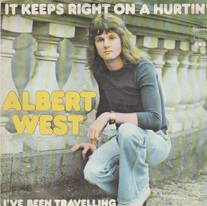 Albert West   - It keeps right on hurtin' + I've been travel. (Vinylsingle)