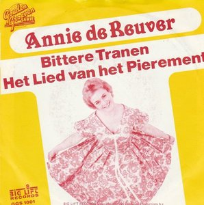 Annie de Reuver - Bittere tranen + Lied van het pierement (Vinylsingle)
