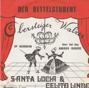 Abdries en Reniers - Santa Lucia + Der Bettelstudent - Obersteiger (Vinylsingle)