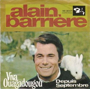 Alain Barriere - Viva ouagadougou + Depuis septembre (Vinylsingle)