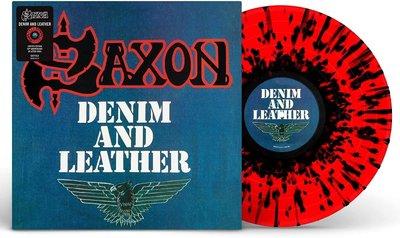 SAXON - DENIM AND LEATHER -COLOURED- (Vinyl LP)