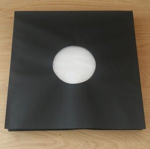 Binnenhoezen voor LP's (zwart met antistatische voering) - per 50 stuks