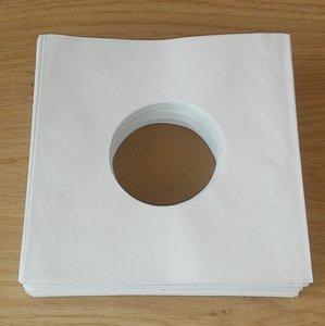 Wit Papieren Hoezen voor vinylsingles (Standaard) - per 100 stuks