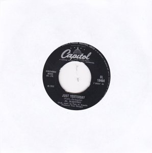 Al Martino - Just yesterday + By the river of the roses (Vinylsingle)