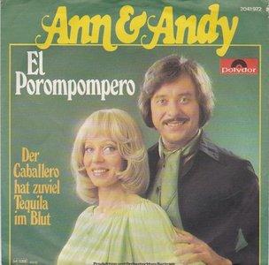 Ann & Andy - El Porompompero + Der Caballero Hat Zuviel Tequila Im Blut (Vinylsingle)