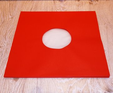 Binnenhoezen voor LP's (Rood met antistatische voering) - per 10 stuks